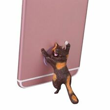 Phone Holder Cute Cat Animal Support Resin Stand Sucker Tablets Desk Smartphone