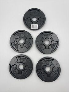 Lot Of 5 Single 2.5 Lbs Golds Gym Barbell Plate Weight Home Gym Equipment