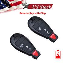 2 For 2009 2010 2011 2012 Dodge Ram 1500 2500 3500 Remote Start Car Key Fob