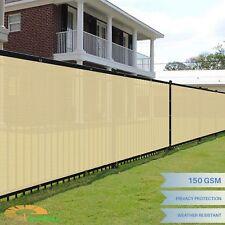 Beige 6'x50' FT Privacy Screen Fence Windscreen Mesh Shade Yard Garden Cover