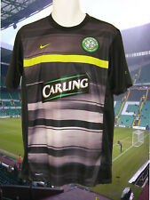 Nike Celtic Entraînement Football T-Shirt avant Match Carling Noir Sublimé