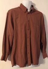 Ermenegildo Zegna Plaid Button Front Shirt Large (L)