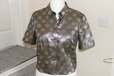 NWT M&S LIMITED COLLECTION SILVER BLOUSE WITH SPOT PATTERN SIZE 14