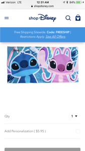 BRAND NEW STICH AND ANGEL BEACH TOWEL