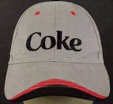 "Gray ""Coke"" Coca-Cola baseball hat cap embroidered adjustable strap."