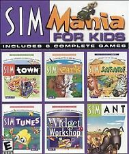 SIM MANIA FOR KIDS INCLUDES 6 COMPLETE GAMES PC WINDOWS 95 (2000)  NEW-SEALED