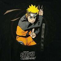 Naruto Uzumaki Men's XL T-Shirt Licensed Shonen Jump Shippuden Anime Manga