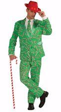 Mens Candy Cane Suit Christmas Costume Dress Fm72641