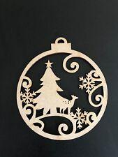 10 cm árbol de Navidad Bolas Navidad Decoraciones de Madera Mdf De Corte Láser
