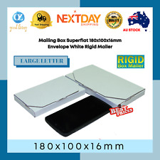 Mailing Box Superflat 180x100x16mm Envelope White Rigid Mailer Ships Large Lettr