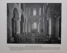 1896 LONDON PRINT + TEXT TOWER OF LONDON ST.JOHN'S CHAPEL