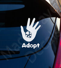 Adopt A Rescue Pet Dog Cat Vinyl Decal Car Laptop Graphic Sticker