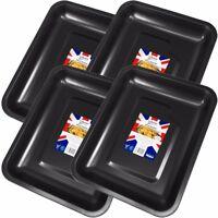 4 x EXTRA LARGE NON-STICK ROASTING TINS Deep Roaster Baking Dish Pan Oven Tray