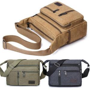 Retro Men's Canvas Shoulder Messenger Bag Crossbody Satchel Travel Man's Bag New
