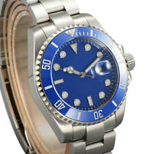 40mm Corgeut blue Dial SUB Sapphire Crystal Luminous date Automatic Mens Watch