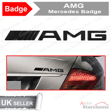 AMG Boot Badge Emblem for Mercedes C CL CLK SLK S SL E CLASS [ Black ] [ Rear ]