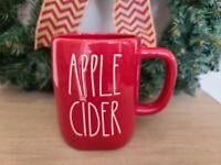 """Rae Dunn Christmas Red """"APPLE CIDER"""" Coffee Mug New 2020"""