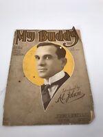 Vintage Sheet Music My Buddy Gus Kahn Walter Donaldson Al Johlson 1922