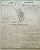 Quack Medicine Jaynes Expectorant 1909 Vintage Print Ad Quackery