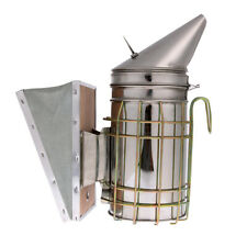 Bee Hive Smoker Bee Keeper Smoker Stainless Steel Heat Chamber Tool Yellow I2B3