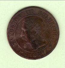 NAPOLEON III 2 CENTIMES 1854 MA TTB ++  RARE