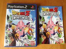 PS2 Dragon Ball Z Infinite World Boite et notice play station