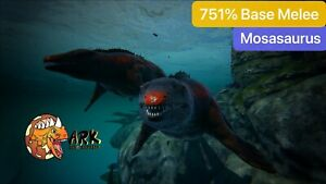 ark pc pve 751.6% Base Melee Red Mosa Male/Female, With Free 124 Saddle