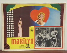 1963 Marilyn Monroe Documentary Lobby Card Narrated Rock Hudson Spanish version
