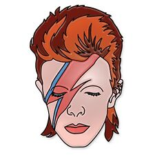 David Bowie Aladdin Sane Enamel Logo Pin Punk Rock Metal Vest Collectible Gift