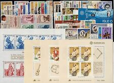 EUROPA: ANNEE COMPLETE 1985 DE 74 TIMBRES+ 4 BLOCS NEUF** Cote: 275,00€