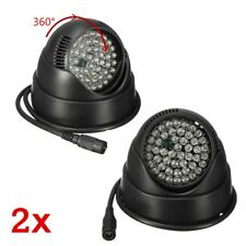 2 Pcs 360° IR Night Vision Illuminator 48 LED Light Lamp for Home CCTV Camera