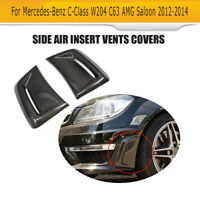 Carbon Fiber Bumper Side Air Vent Cover For Mercedes Benz W204 C63 AMG 2012-2014