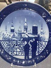 Royal Copenhagen Christmas Plate 1988 Christmas Eve In Copenhagen Mint Condition