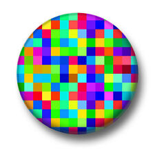 Pixels 1 Inch / 25mm Pin Button Badge Video Games Retro Arcade Graphics 8 16 Bit