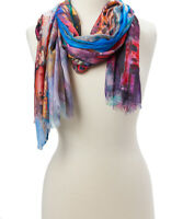 Women Fashion Scarves Abstract Long Scarf Lightweight Viscose Shawl Lady Hijab