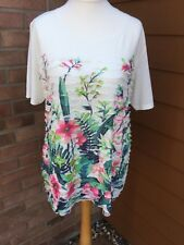 Autonomy floral ruffle t- shirt - size large (New with tags)