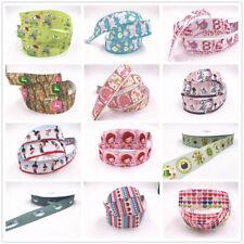 Wholesale! 1-50y 1''25mm printed grosgrain ribbon Hair bow sewing Cartoon series