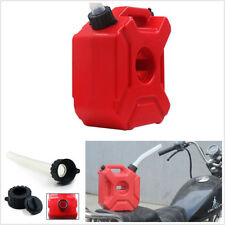 3 Litre Red Plastic Autos Motorcycles Fuel Tank Spare Gasoline Oil Container Pot