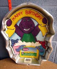 BARNEY cake baking pan 1998 purple dinosaur Wilton Enterprises cake pan PBS mold