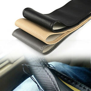Leather DIY Car Steering Wheel Cover With Needles and Thread DIY Texture RC1270