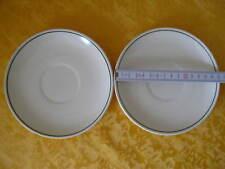 2 Untertassen oder kleine Teller  mit einem dünnen grünen Rand MADE IN GDR