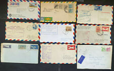 Us & World 1930-1970s, Airmail Covers, diff. countries, lof of 9