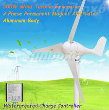 300W/12V Wind Turbine Generator Wind Mill+Waterproofed battery charge controller