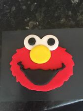 Sesame Street Edible Cup Cake Toppers , Elmo, Face 3 And A Half Inch
