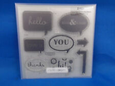 Close to my Heart Acrylic Stamps D1531 Cricut Artiste Collection Word Balloon