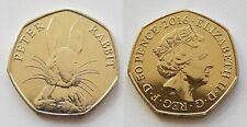 Great Britain Uk 50 Pence 50p Commemorative Coin 2016 Peter Rabbit Unc