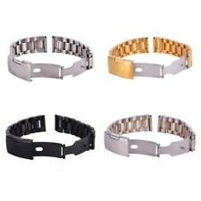 Replacement Stainless Steel Strap Band Clasp Metal Watch Bracelet 18/20/22/24mm