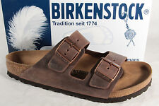 Birkenstock Men's Sandals Mules Clogs Genuine Leather Brown 052531 New
