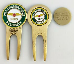 GOLF DIVOT REPAIR TOOL Ballmark PGA CHAMPIONSHIP 2005 BALTUSROL Mickelson PAC
