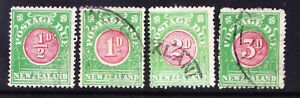 NEW ZEALAND 1925/35 SG29/32 set of 4 Postage Dues perf 14x15 fine used. Cat £65